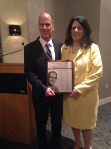 Dr. John Kestle and Hydrocephalus Association CEO Dawn Mancuso at Pudenz Award dinner.